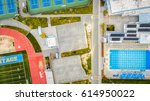 an aerial view of a sports... | Shutterstock . vector #614950022