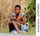 brong ahafo  ghana   jan 15 ... | Shutterstock . vector #614950862