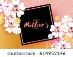 international happy mothers day.... | Shutterstock .eps vector #614952146