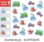 counting game for preschool... | Shutterstock .eps vector #614953655