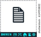 document icon flat. simple...