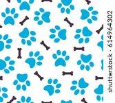 Seamless Pattern Of Blue Anima...