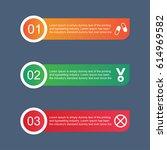 modern infographics template.... | Shutterstock .eps vector #614969582