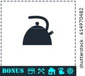teapot kettle icon flat. simple ...