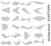 vector set of linear elements... | Shutterstock .eps vector #614972696