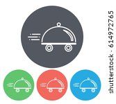 line icon  food delivery concept   Shutterstock .eps vector #614972765