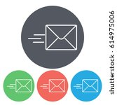 line icon  sending a message | Shutterstock .eps vector #614975006