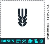agriculture icon flat. simple... | Shutterstock . vector #614976716
