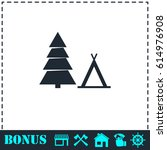 tourist tent icon flat. simple...