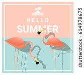 hello summer background with... | Shutterstock .eps vector #614978675