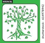stencil. tree silhouette....   Shutterstock .eps vector #614978942