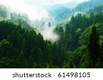 mountain view with haze | Shutterstock . vector #61498105