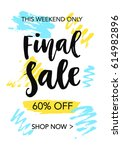 final sale mobile banner... | Shutterstock .eps vector #614982896