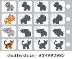 match shadow   worksheet for... | Shutterstock .eps vector #614992982