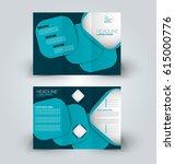 brochure mock up design... | Shutterstock .eps vector #615000776