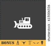 bulldozer icon flat. simple... | Shutterstock .eps vector #615006536