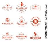 restaurant logos templates... | Shutterstock .eps vector #615009662