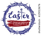 easter holiday  religious... | Shutterstock .eps vector #615013676