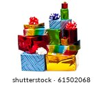 Stack Of Colored Gift Boxes...