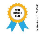 best summer deal badge  blue... | Shutterstock .eps vector #615033842