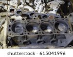 the cylinder block of the four... | Shutterstock . vector #615041996