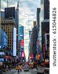 new york usa 15.09.2016... | Shutterstock . vector #615046826