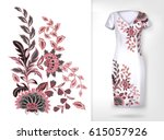 embroidery colorful trend... | Shutterstock .eps vector #615057926