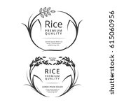 rice plant logo or label... | Shutterstock .eps vector #615060956