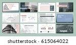 original presentation templates ... | Shutterstock .eps vector #615064022