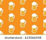 beer seamless pattern.... | Shutterstock .eps vector #615066548