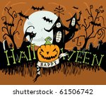 happy halloween | Shutterstock .eps vector #61506742