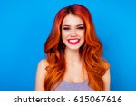 close up of attractive cute... | Shutterstock . vector #615067616