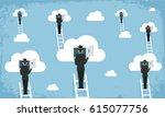 cloud network surrealism  ... | Shutterstock .eps vector #615077756