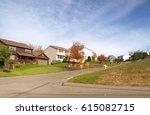 neighborhood in autumn   Shutterstock . vector #615082715