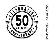 50 years anniversary logo... | Shutterstock .eps vector #615085256