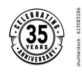 35 years anniversary logo... | Shutterstock .eps vector #615085286