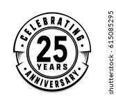 25 years anniversary logo... | Shutterstock .eps vector #615085295