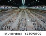 xian  china  11 mar 2017  view... | Shutterstock . vector #615090902