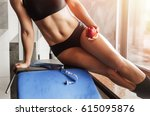 the gym on the background of... | Shutterstock . vector #615095876
