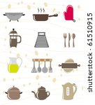 kitchen object icon set | Shutterstock .eps vector #61510915