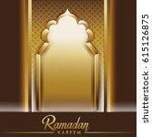 ramadan background mosque... | Shutterstock .eps vector #615126875