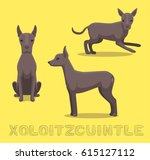 dog xoloitzcuintle cartoon... | Shutterstock .eps vector #615127112