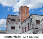 old painted brick | Shutterstock . vector #615130652