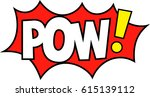 pow expression party props for... | Shutterstock .eps vector #615139112