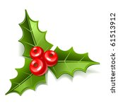 christmas mistletoe icon | Shutterstock .eps vector #61513912