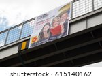 Small photo of Quito, Ecuador - February 5, 2017: Campaign sign of Cynthia Viteri, presidential candidate for the Partido Social Cristiano party along with her binomial Mauricio Pozo and National Assembly candidate