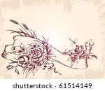 vintage card design with roses | Shutterstock .eps vector #61514149