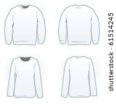 Sweatshirt design template set including male and female, front and back view