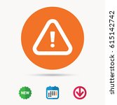warning icon. attention... | Shutterstock .eps vector #615142742