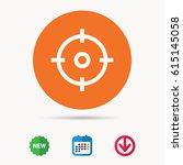 target icon. crosshair aim... | Shutterstock .eps vector #615145058